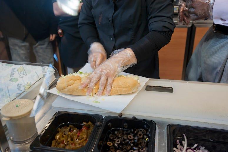 Subway, Sandwich, Bread, Sandwich Artist, Slicing, Cutting