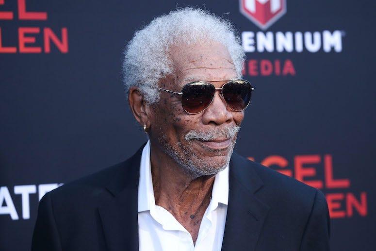 Morgan Freeman, Red Carpet, Sunglasses, Smile, Angel Has Fallen, 2019
