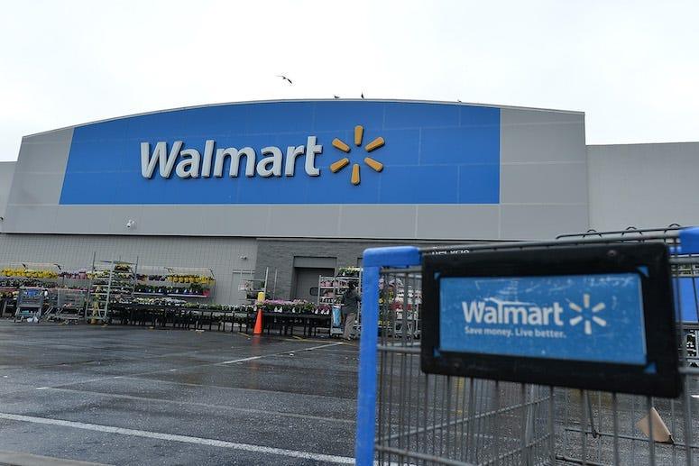 Walmart Supercenter, Storefront, Logo, Shopping Cart