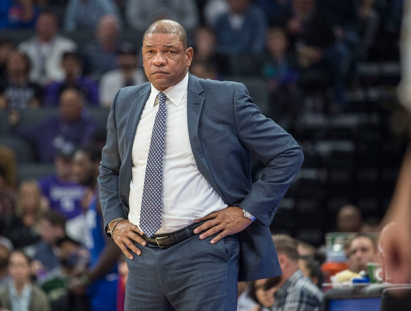 New 76ers head coach Doc Rivers in 2017