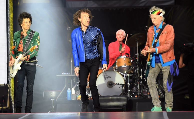 Rolling Stones, Concert, Ronnie Wood, Mick Jagger, Charlie Watts, Keith Richards