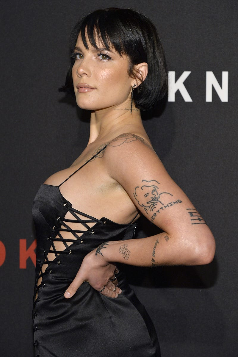 halsey at the dkny 30th birthday celebration