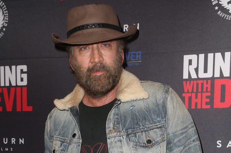 Nicolas Cage, Red Carpet, Running With The Devil, 2019