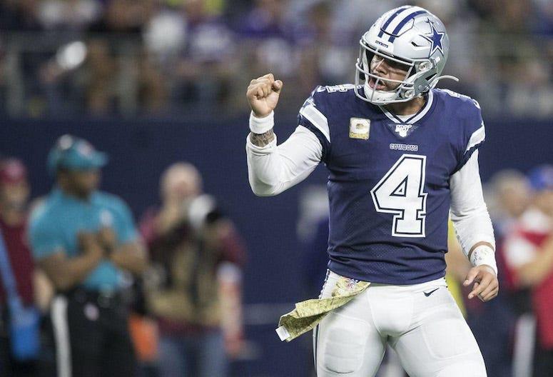 Dak Prescott, Fist Pump, Dallas Cowboys, Game, 2019