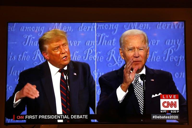 President Trump and Joe Biden