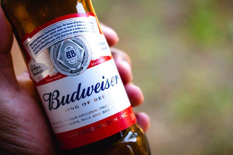 Bottle of Budweiser