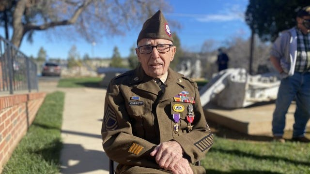 WWII paratrooper finally awarded Purple Heart and Bronze Star Medal at 99