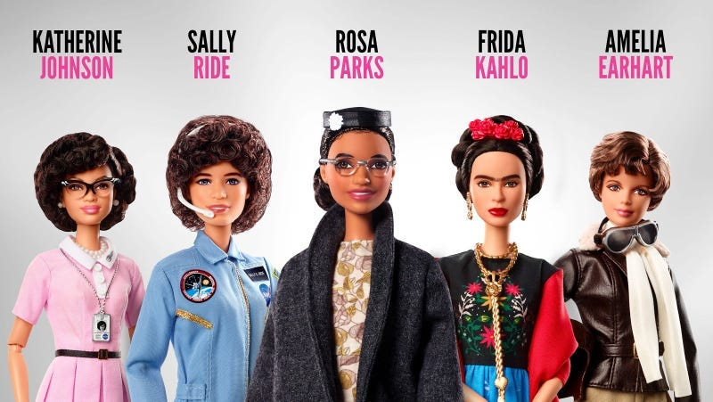 Mattel Releases Iconic Barbies for Women's Equality Day