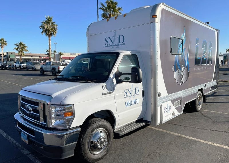 """Picture of SNHD's """"Linkage 2 Action"""" van on 1-21-21"""