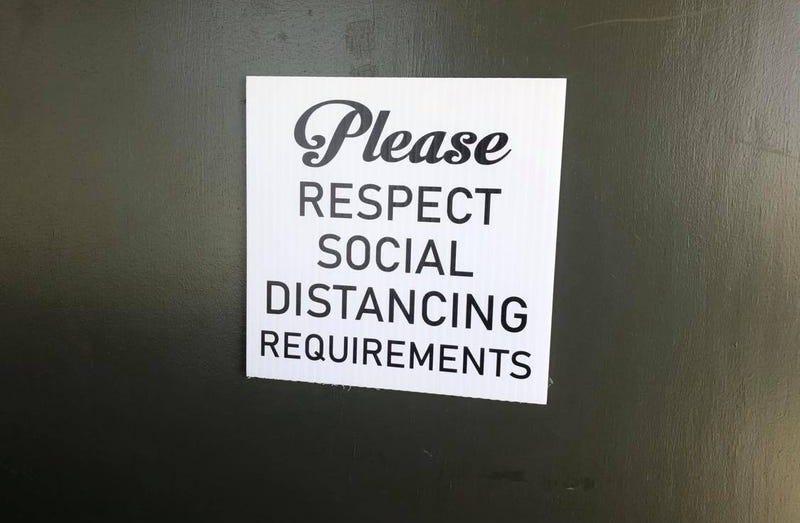 please respect social distancing