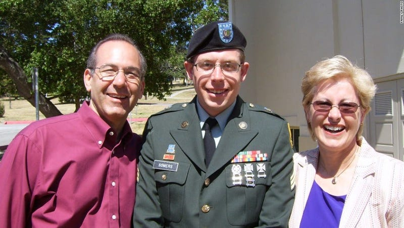 Sgt. Daniel Somers and his parents, Howard and Jean.