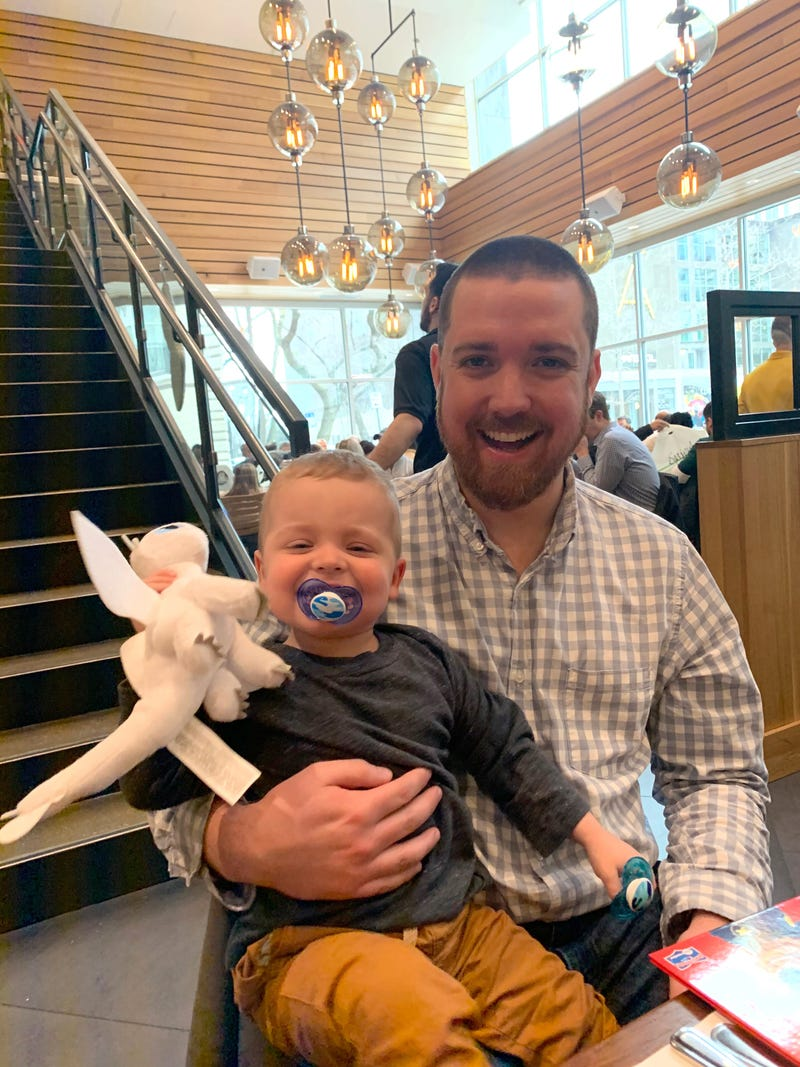 James McCarthy with his donor Spencer Hiestand