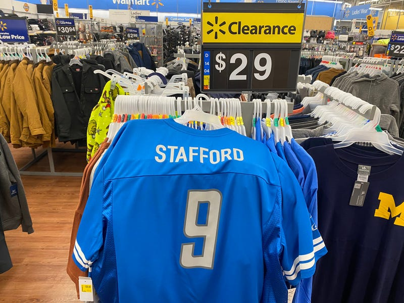 Matthew Stafford jerseys are on clearance