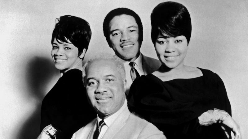 (clockwise from top left) Mavis Staples, Pervis Staples, Cleotha Staples, and Roebuck 'Pops' Staples