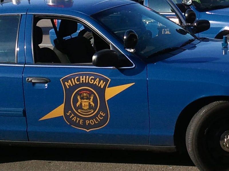 A Michigan State Police car