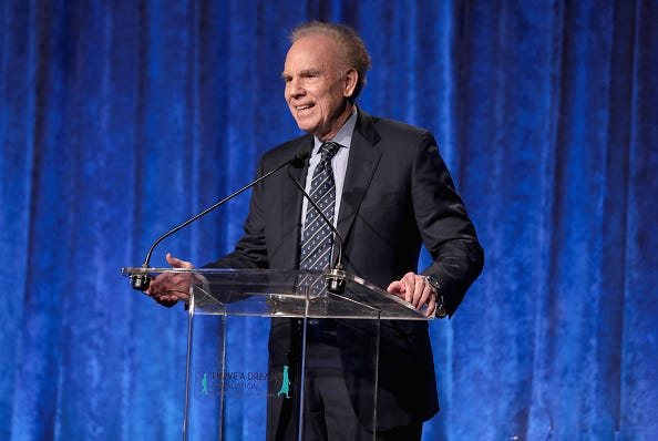 Former Cowboys QB Roger Staubach gives a speech at the Spirit of the Dream Gala.