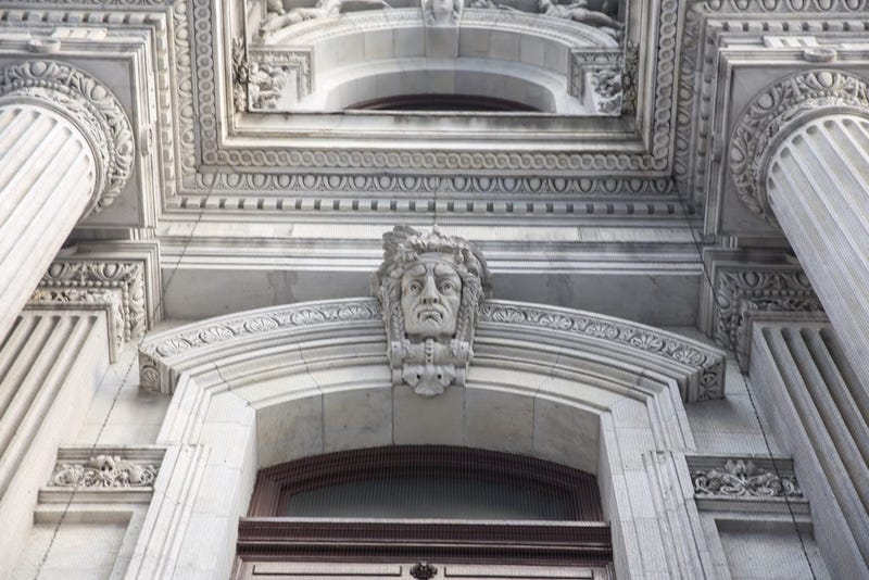 Sculptures around Philadelphia's City Hall by Alexander Milne Calder.