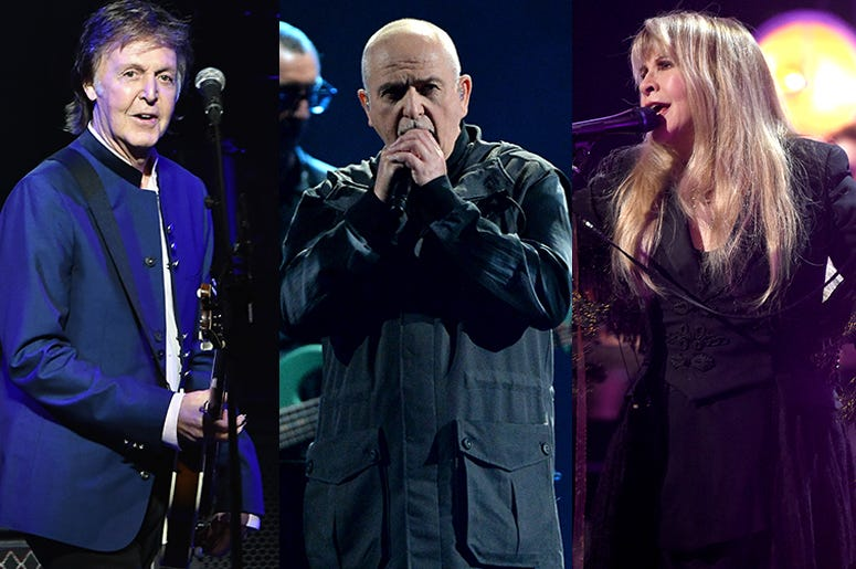 Paul McCartney, Peter Gabriel, Stevie Nicks