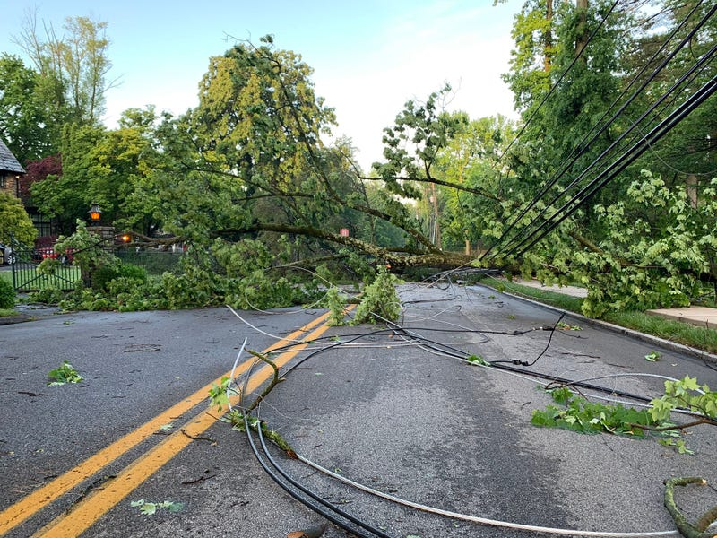 Storm damage on Remington Rd. off Lancaster Ave in Wynnewood
