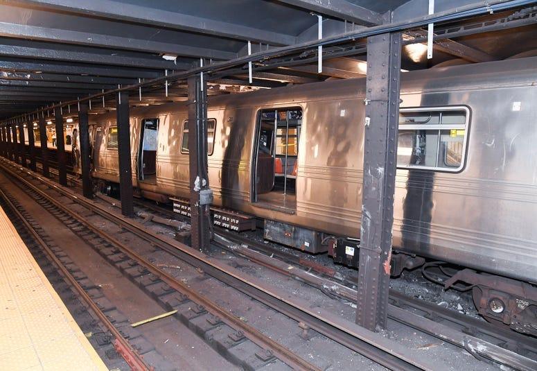Subway derailment