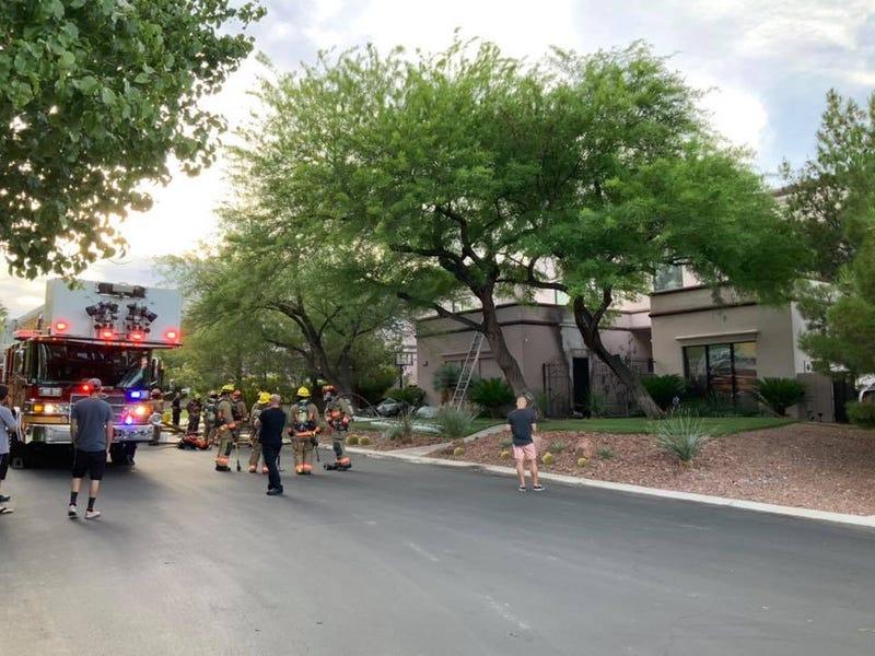 Scene of garage fire on 6-15-20
