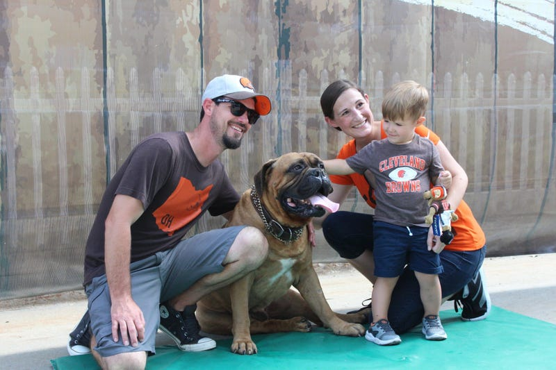 Browns mascot Swagger died Friday