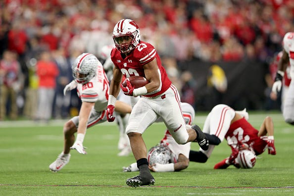 Wisconsin RB Jonathan Taylor finds the open field vs. Ohio State