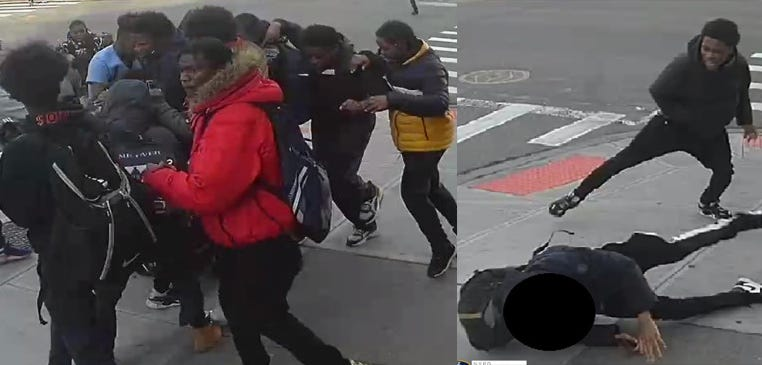 Girl attacked by group