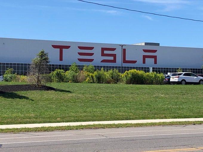 Tesla site in South Buffalo. (WBEN Photo/Mike Baggerman)