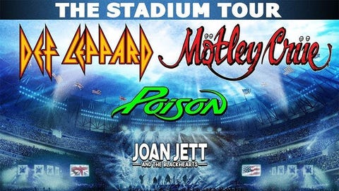 DEF LEPPARD, MÖTLEY CRÜE, with POISON and JOAN JETT (New Date!)