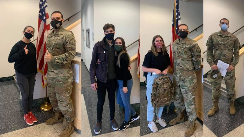 Sisters and brother-in-law follow brother, join Washington National Guard