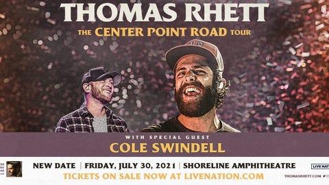 Thomas Rhett with Cole Swindell