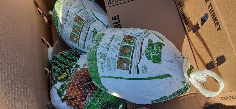 Frozen turkeys from Union Gospel Mission