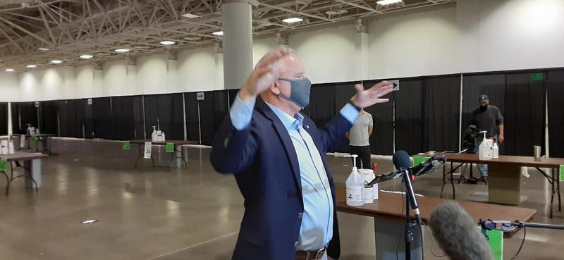 Governor Walz at new saliva-testing center in Minneapolis