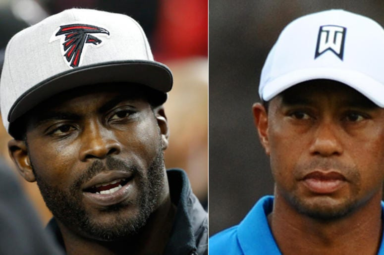 Michael Vick and Tiger Woods