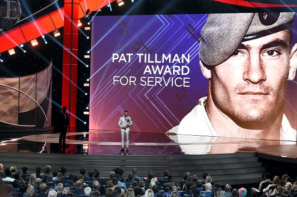 The ESPYS present an award named after Pat Tillman.