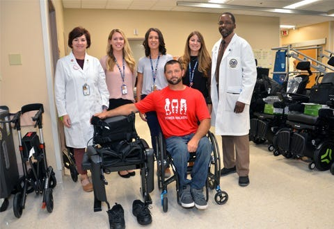 Marine veteran became first paralyzed vet to be issued exoskeleton at Tampa VA.