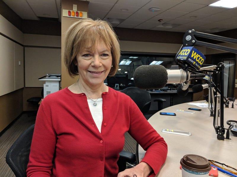 Senator Tina Smith in the studio
