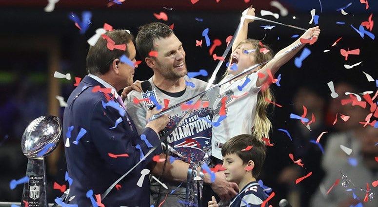 New England Patriots quarterback Tom Brady'