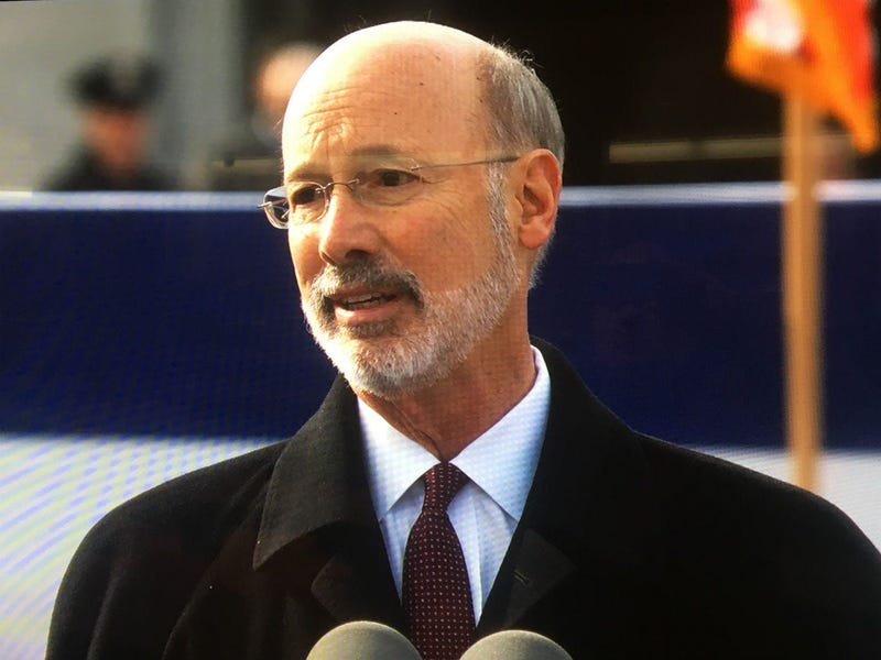 Pa. Gov. Tom Wolf speaks after taking the oath for his second term.Gov. Wolf speaks after taking oath for 2nd term