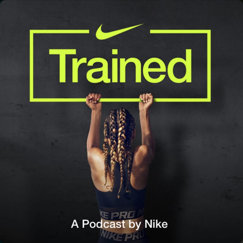 trained podcast cover