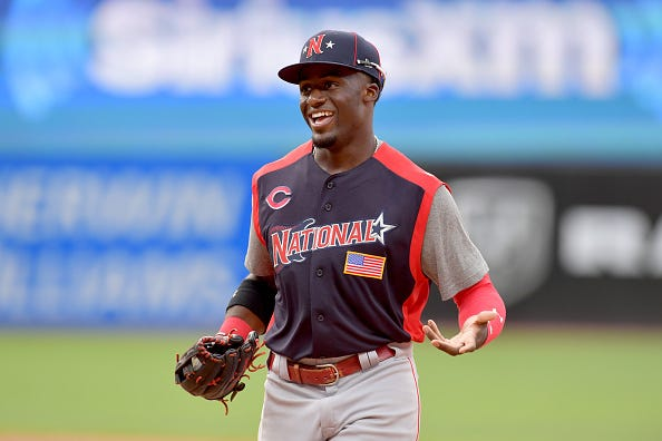 Outfield prospect Taylor Trammell at the All-Star game.