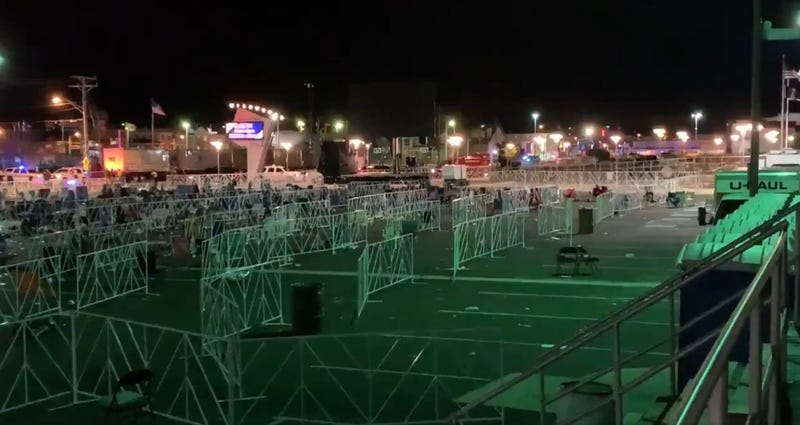 The area outside of the Wildwoods Convention Center is shown after President Donald Trump's rally.