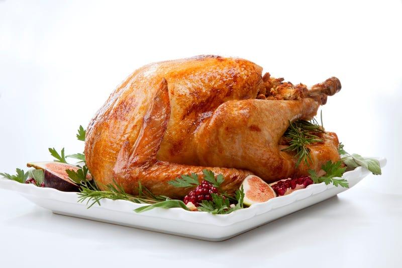 Garnished traditional roasted turkey