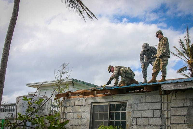 Much-needed temporary roofing to the residents of Saipan who are recovering from Super Typhoon Yutu