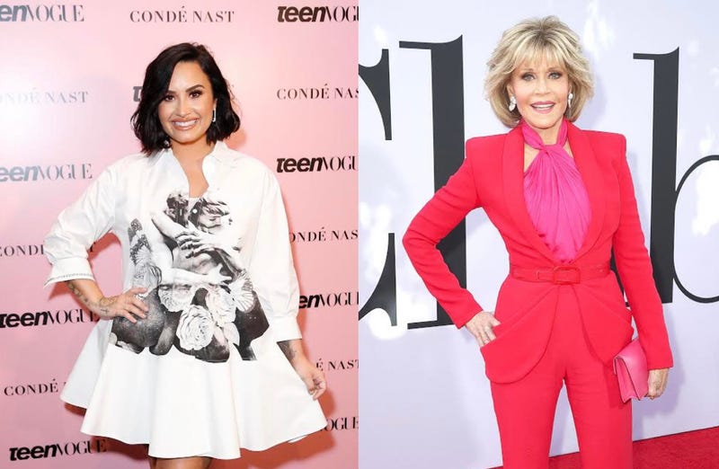 Demi Lovato, Jane Fonda