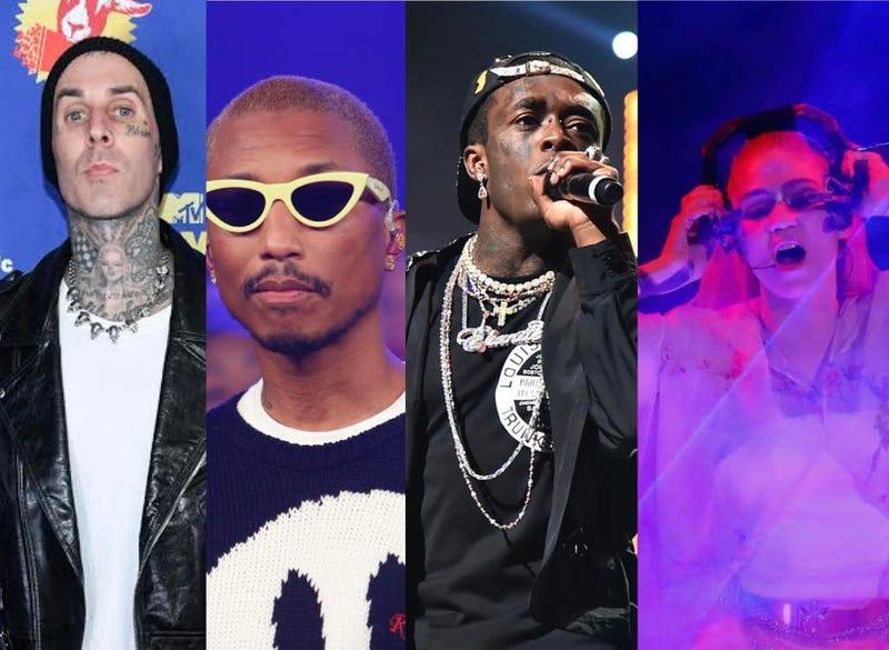 Travis Barker, Pharrell, Lil Uzi Vert, Grimes