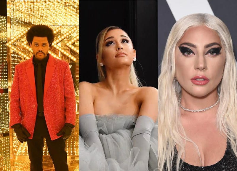 The Weeknd, Ariana Grande, Lady Gaga