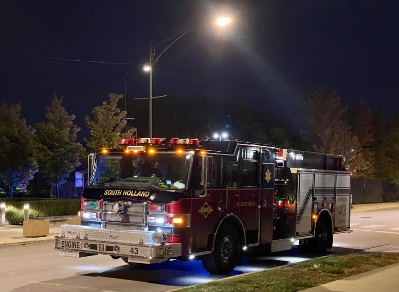 A procession of South Holland fire engines could be seen early Thursday at the medical examiner's office on the Near West Side.