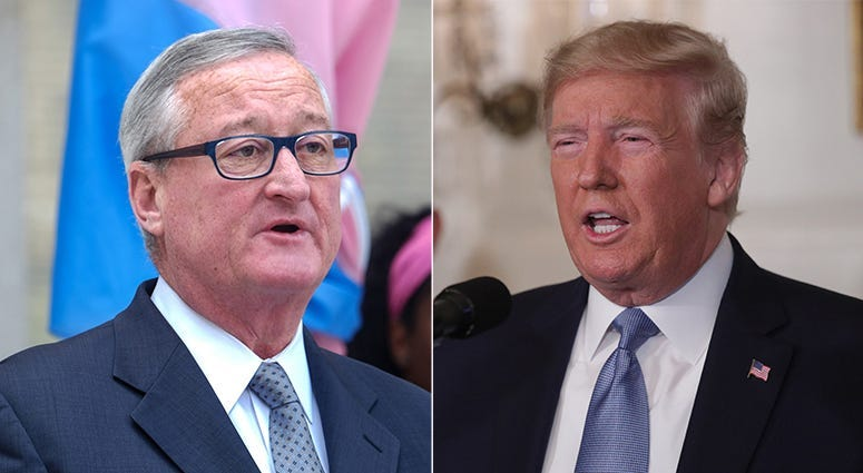 Mayor Jim Kenney and President Donald Trump